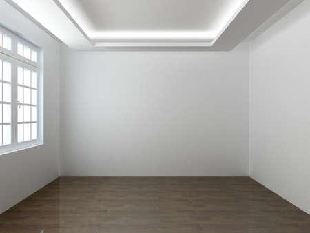 3D render empty interior room Reklamní fotografie - 41309588