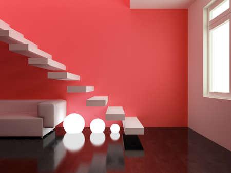 Interior design series: 3D interior Reklamní fotografie - 41309658