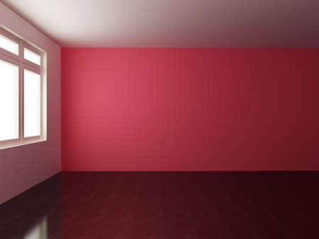 render: 3D render empty interior room