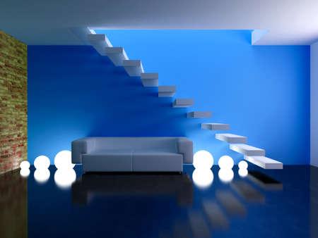 Interior design series: 3D interior Stok Fotoğraf - 41309669