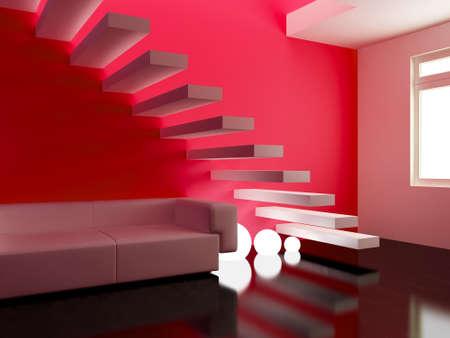 Interior design series: 3D interior Reklamní fotografie - 41309677