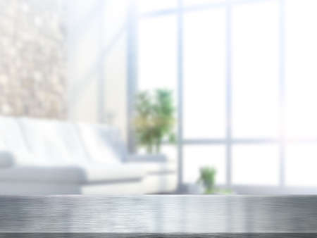 Table top and blur interior of background Stok Fotoğraf - 41631078
