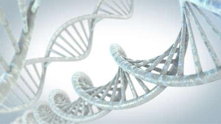 DNA molecules on the beautiful backdrop. 3D rendering Stok Fotoğraf