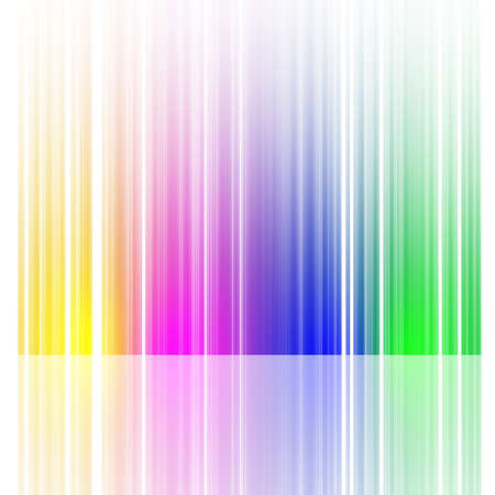 launched: Launched colorful lines, isolated on background, 3D render Stock Photo