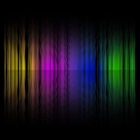 abstract rainbow: Launched colorful lines, isolated on background, 3D render Stock Photo