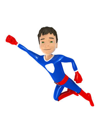 represents: Little superhero represents power and success, 3D render