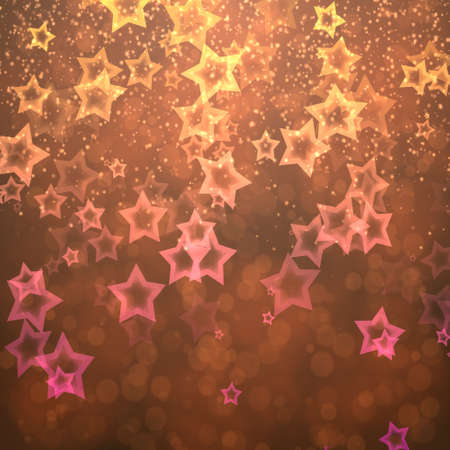 burnish: abstract background bokeh circles and stars for Christmas background