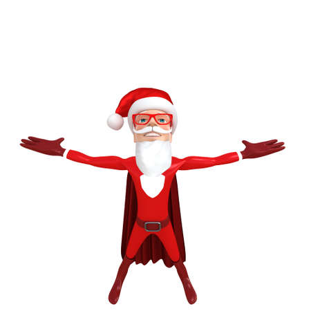 kringle: 3d rendered illustration of a little santa Stock Photo