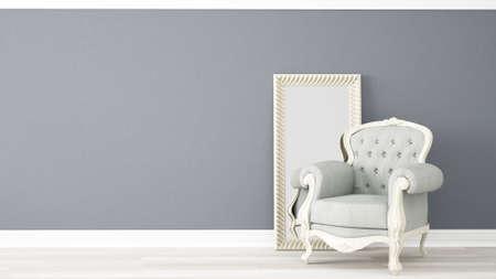 Modern licht onder in de stijl van de Provence, 3D geeft