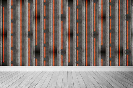 mocks: Empty bright interior in a modern style . 3D render