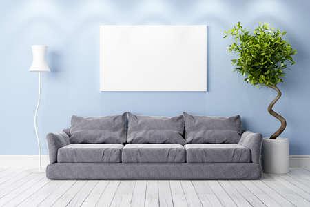indoor background: Bright interior in a modern style . 3D render