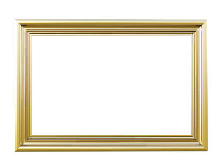 gold frames: Vintage picture frame isolated on white background