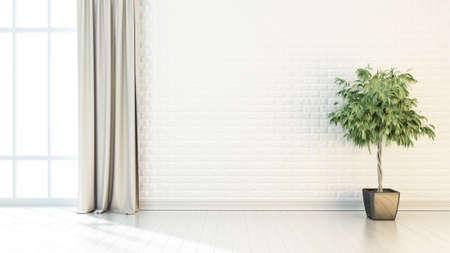 Interior brilhante em estilo moderno. 3D render