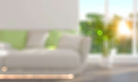 couches: Blurred Living Room with Couches 3D render