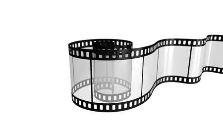 photo real: Camera film isolated on white background 3d render