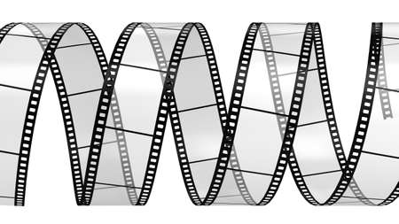 camera film: Camera film isolated on white background 3d render
