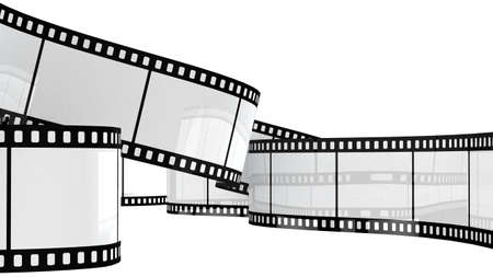 perforation tape: Camera film isolated on white background 3d render