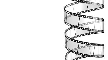 filmstrip: Camera film isolated on white background 3d render