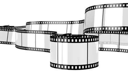 rollo pelicula: Película de la cámara aislada en el fondo blanco de procesamiento 3d
