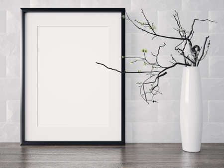 Empty modern style frame on composition wall as concept Reklamní fotografie - 53304799