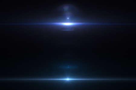 modrý: Lens světlice účinek v prostoru 3D vykreslování