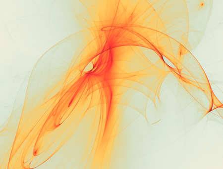 Abstract orange waves or veils background texture