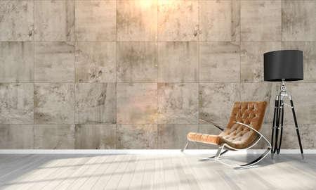Bright interior in a modern style . 3D render Stok Fotoğraf - 53626568