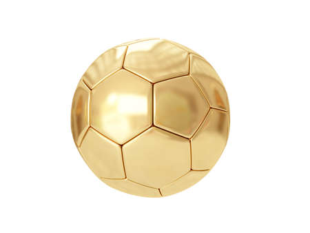 Golden ball isolated on white. 3D rendering Stock Photo