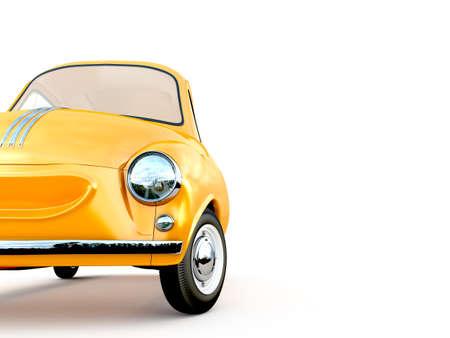 cartoon car 3D rendering Stock Photo
