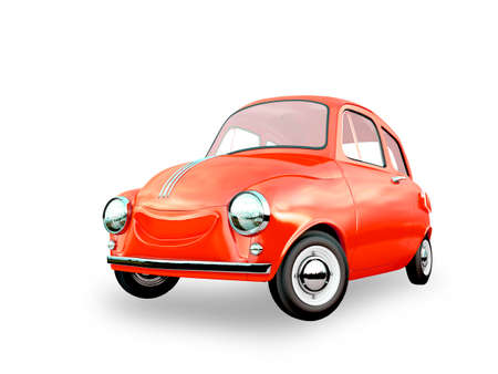 cartoon car 3D rendering Фото со стока
