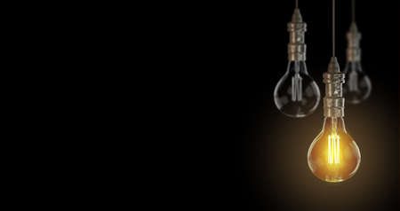 Light bulb lamps. 3D rendering Stock Photo