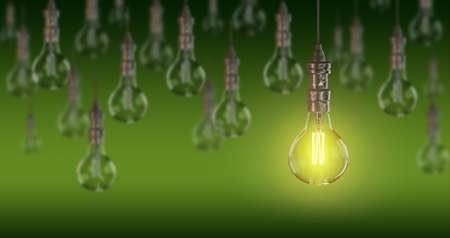 Light bulb lamps. 3D rendering Stock Photo