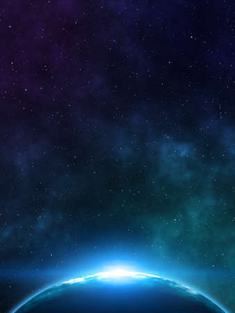 starfield: Space background. 3D rendering