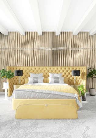 Charming Standard Bild   Weißes Schlafzimmer Minimal Modern Oder Loft Stil Interior  Design. 3D Rendering 3D Abbildung