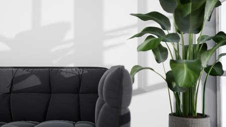 Modern design living room interior with beautiful view . 3D rendering Reklamní fotografie