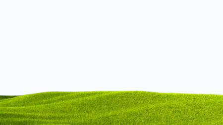 green field isolated against a white background Stockfoto