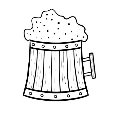 Cheers Beer Mug Drawing Vector coloring page