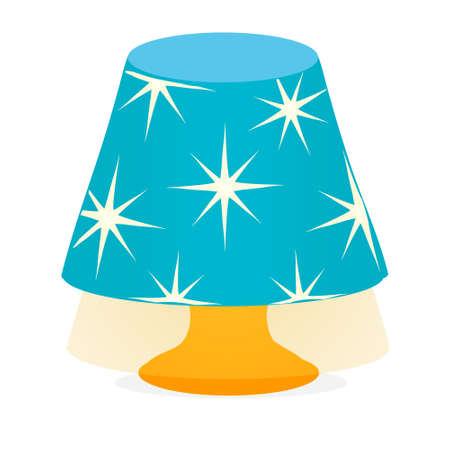 Desk lamp light icon Vector isolated on white Vecteurs
