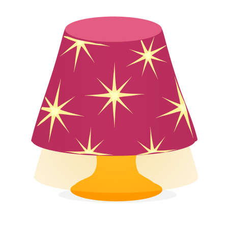 Desk pink lamp light icon Vector isolated on white