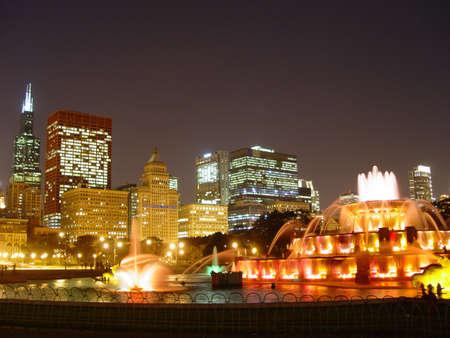 Chicago at night                 photo