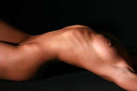 Nude faceless torso of a beautiful female