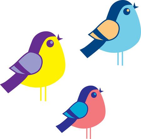 lovebird: birds of the same feather flock together Illustration