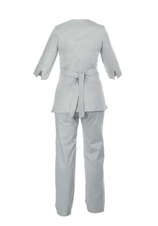 Medical Uniform Ropa Nurse Sleeve Cut Out Doctor Lab Coat Stok Fotoğraf