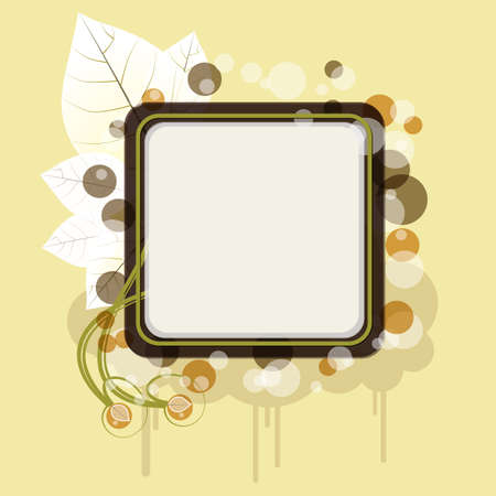 Autumn banner with cloud - An illustration of autumn banner with cloud and leaves, a place for your text Stock Vector - 15312468