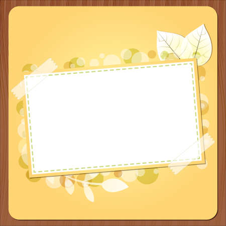 Autumn banner with wood - An illustration of autumn banner with leaves and bubbles for your text Stock Vector - 15312471