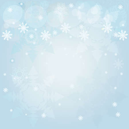 illustration of winter blue background with snowflakes Stock Vector - 15687298