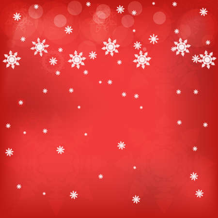 An illustration of winter red background with snowflakes Stock Vector - 15687302