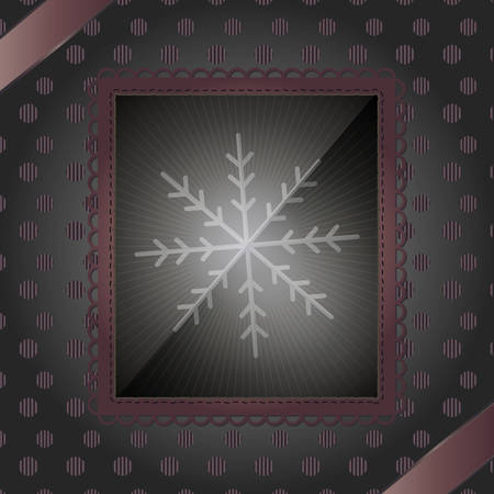 Photo frame and snowflake - An illustration of photo frame with snowflake for your decoration Vector