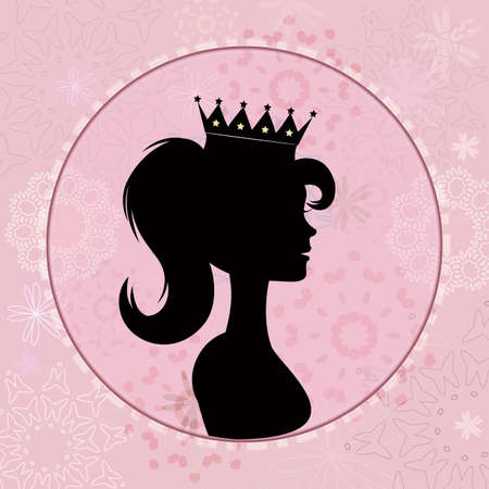 fairy silhouette: Little princess  Illustration