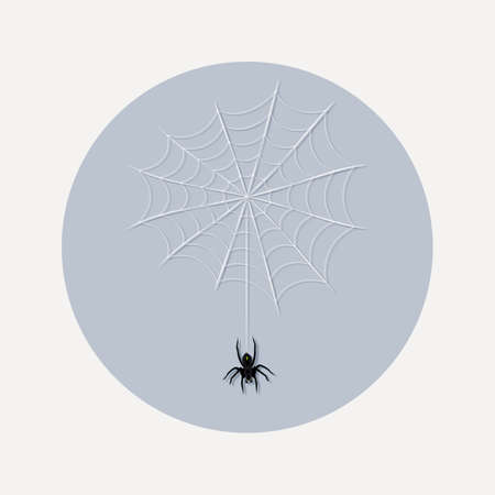 spider web: Flat design icon spider web illustration - An illustration of spider web icon flat design style for Halloween